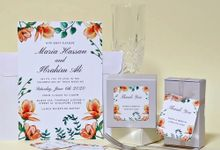 Magnolia Wedding Invitation by Gift Elements