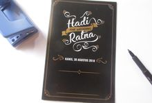 Hadi & Ratna HC Rustic Black and  Gold Invitation - Other Version by Elderco.id