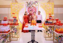 Mom Dress and Groom Qi Pao by Cleome Usher