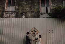 Penang prewedding street photography by Amelia Soo photography