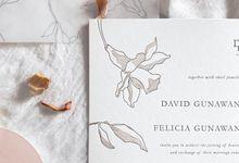 David & Felicia Invitation Suite by Sho Paper