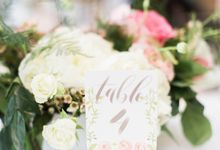 Jordan & Jason Wedding - Piper Palm House by Meilifluous Calligraphy & Design