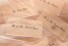 Place card by Vinas Invitation