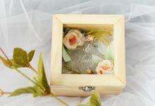 Personalize Wedding Ring Box by Roopa