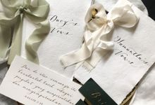 Davy & Samantha Wedding Vows Book by Tulisanana Calligraphy