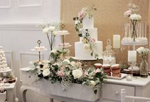 Romantic Dessert Table by Gordon Blue Cake