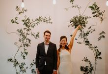 Botanical industrial intimate wedding by Eufloria