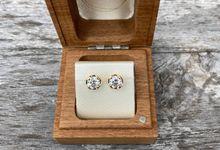 Bespoke diamond studs by Sceona