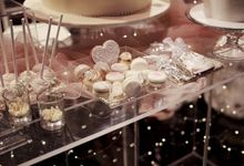 Modern Dessert Table by Gordon Blue Cake
