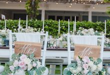 Alfresco greenery dinner reception at Opia Bali by Silverdust Decoration