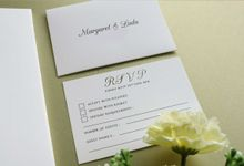 Margaret & Ladu by Vinas Invitation
