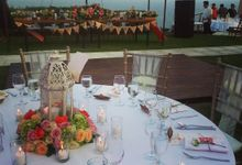 coral rustic wedding by Ambience Occasions