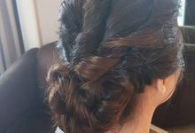Perfect Wedding Updo by Favor Make Up by Dian Mayasari
