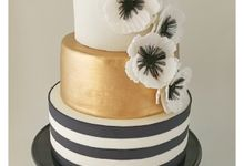 Black  white and gold with Anemone by Scones n Whatever by Kim Teo