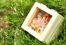 Acrylic Wedding Ring Box by Roopa