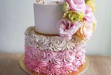 Celebration Cakes - Fresh Florals by MyLadyGrey Cakes
