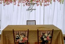 Customized Solemization Arch/Backdrop by Victoria Wedding Collection