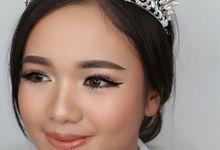 Wedding makeup trial by vielmakeup