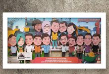 Big Ohana 30x60 Caricature by Peapepo