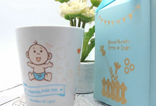 Personalised Ceramic Mug in Paperbag  by Fine Souvenir