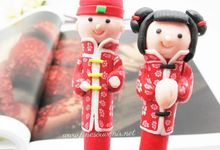 Pen Clay Chinese Include Personalised Box by Fine Souvenir