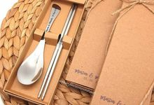 Spoon&Chopstick In Personalised Box by Fine Souvenir