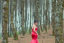 Red Mermaid Gown Ready For Rent by Angela Karina