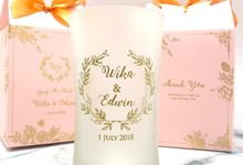 Frosted Drinking Glass In Personalised Paperbag by Fine Souvenir