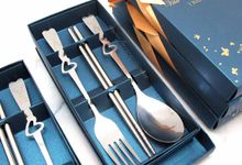 Spoon Chopstick Fork Include Packaging by Fine Souvenir
