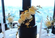 Modern - Edgy Wedding Cake by Ame Cakery