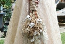 Dried Wedding Bouquet by Belfiore Florist