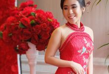 Sangjit Cheongsam Gown by Angela Karina