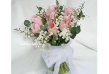 Tulip Wedding Bouquet by Belfiore Florist