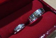 Cincin Kawin Emas Putih dan Palladium by Jaya Agung Jewellery
