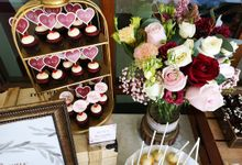 Burgundy Blush Gold Rustic at Sofitel Sentosa by Baker V