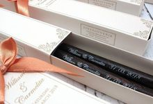 Wooden Chopstick Include Personalised Box by Fine Souvenir