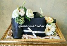 Frame Gold box by RAZITA Wedding Box
