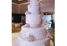 The Wedding of Dr.Jusak & Dina by Evergreen Cake Boutique