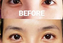 Before after eyemakeup by Charlotte Beauty Studio