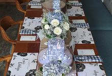 Table Decor Birthday Dinner by Belfiore Florist