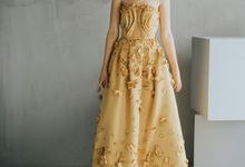 Gold Party Ball Gown by Nelly Liu Label