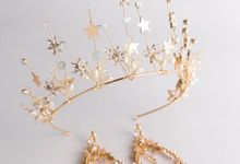 Regatta Wedding Crown Headpiece, with earrings by Fairytale Undercover