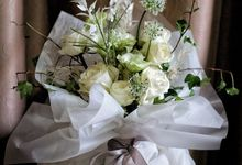 Wrapped Bouquet by Pallava Flower Studio