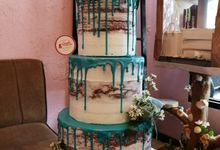 Customized Wedding Naked Cake Rustic Themed Cake by Crumbs Cake Art Bakeshop