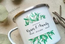 Souvenir Mug Vintage Enamel Rustic by Rusticlatte