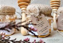Honey Wedding Favor Souvenir Rustic Bohemian by Rusticlatte