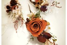 Preserved Flower Wedding by yukifangmakeup