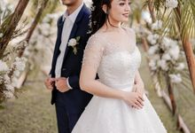 wedding gown for rent by Cintami Meidina Fashion Designer