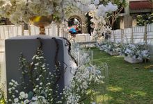 Ceremony and Dinner Garden party of Hamish & Eva Wedding by Sudamala Resorts