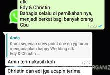 Testimoni Edy & Christin by Point One Wedding Organizer